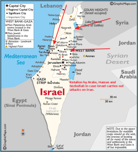 Retaliation by Arab and extremist forces should Israel attack Iran